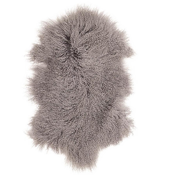 Mongolian Sheepskin - Light Grey Rug