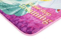 Non Slip Pink Multicolour Disney Princess Never Stop Dreaming Princesses Kids Rug