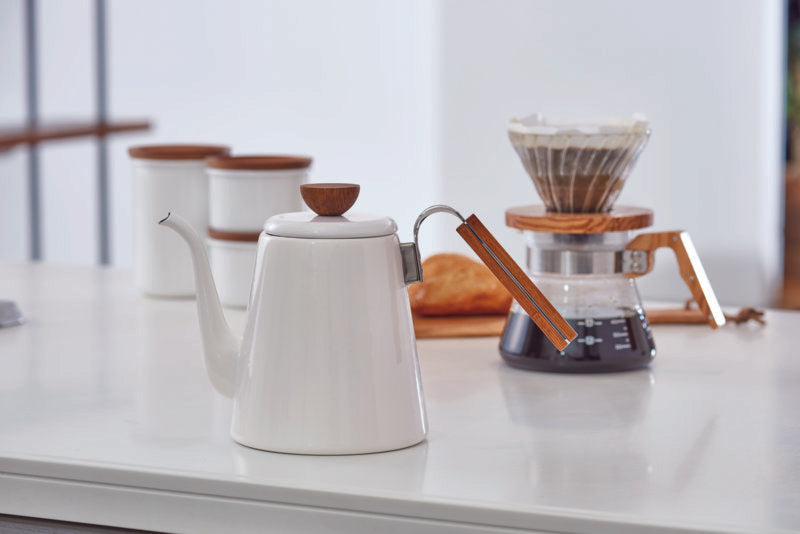 Enamel Drip Coffee Kettle
