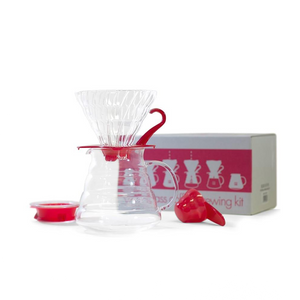 Hario V60 Glass Coffee Brewing Set