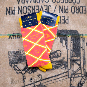 DT Cophied Coffee Socks - Pink Diamond Brew socks