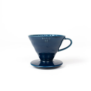 DT Coffee | Hario V60 Ceramic Dripper - Indigo Blue 1