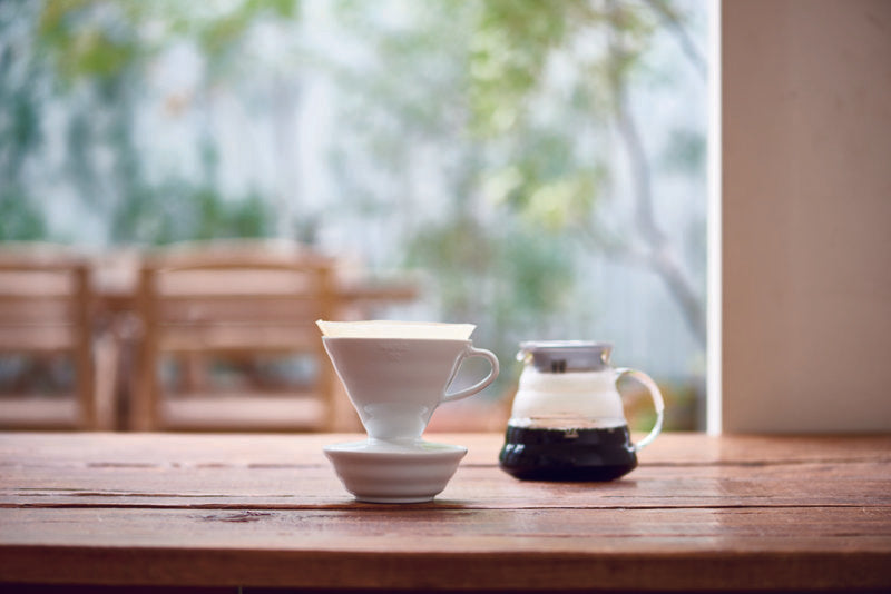 DT Coffee | Hario V60 Ceramic Dripper 02 - White 3