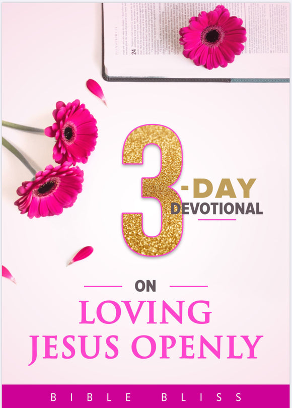 Loving Jesus Openly 3 Day Devotional (Digital Download)