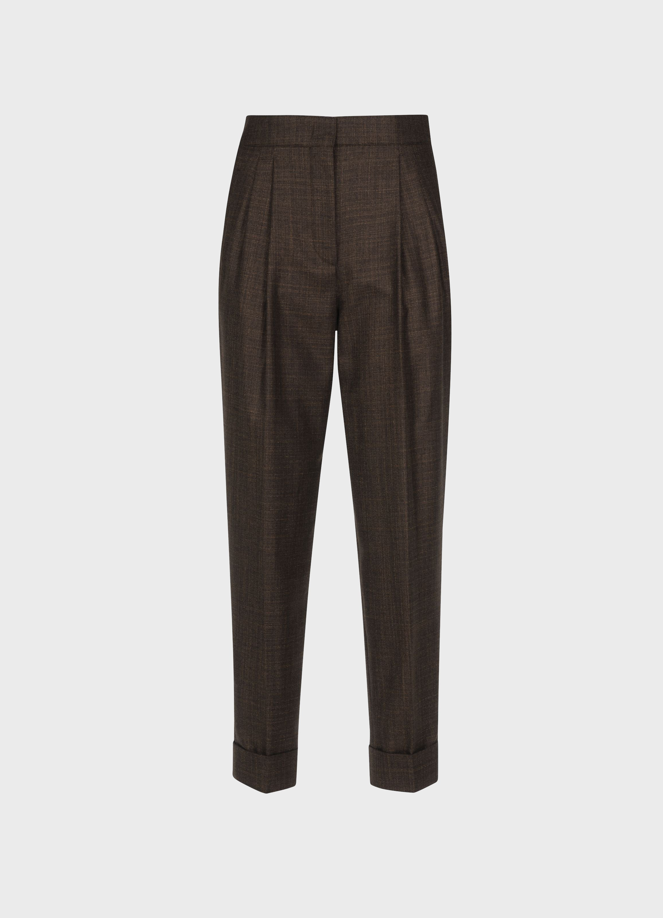 Leblon Silk-Cashmere high-waist trousers