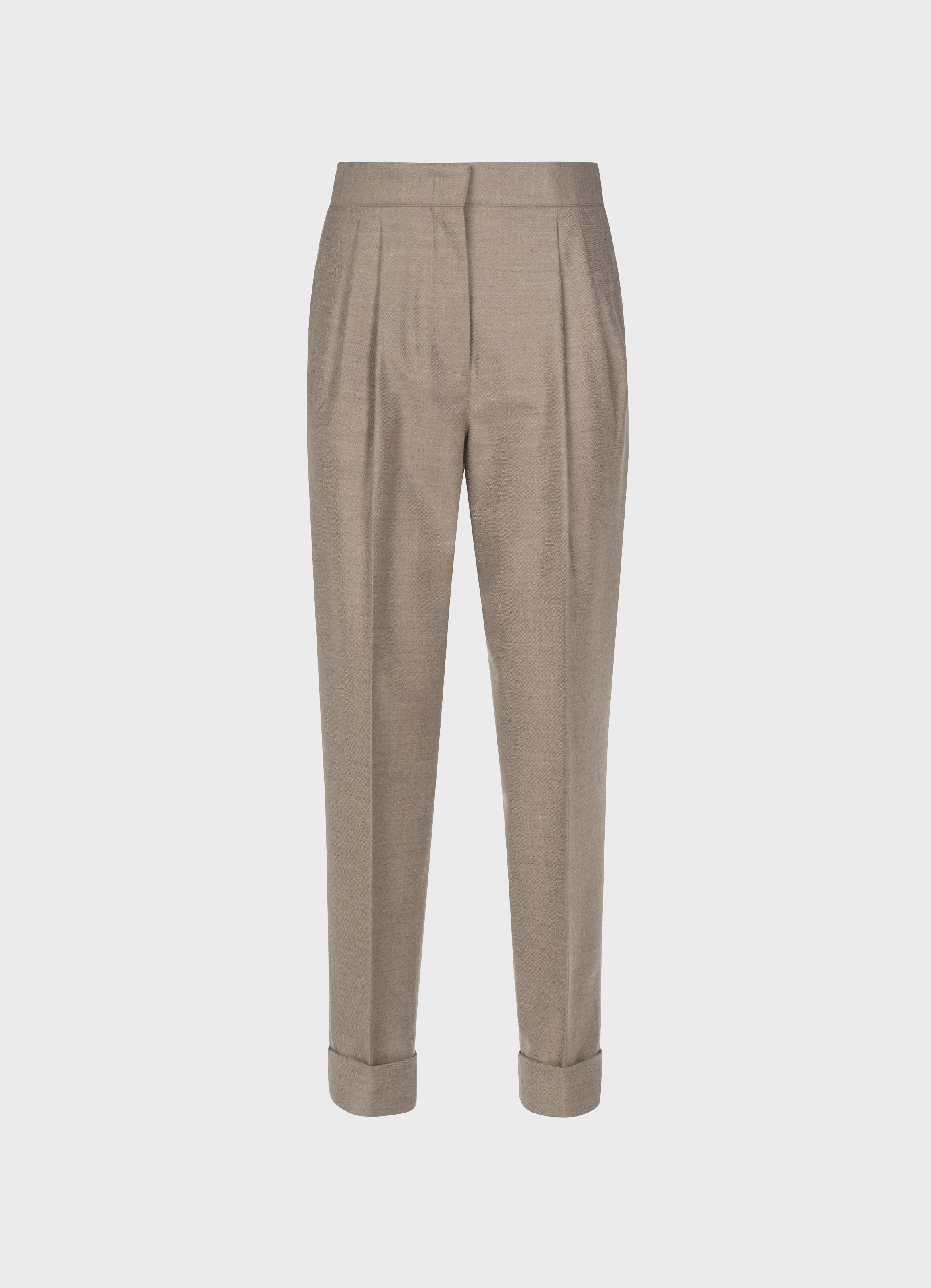 Leblon Wool-Silk high-waist trousers