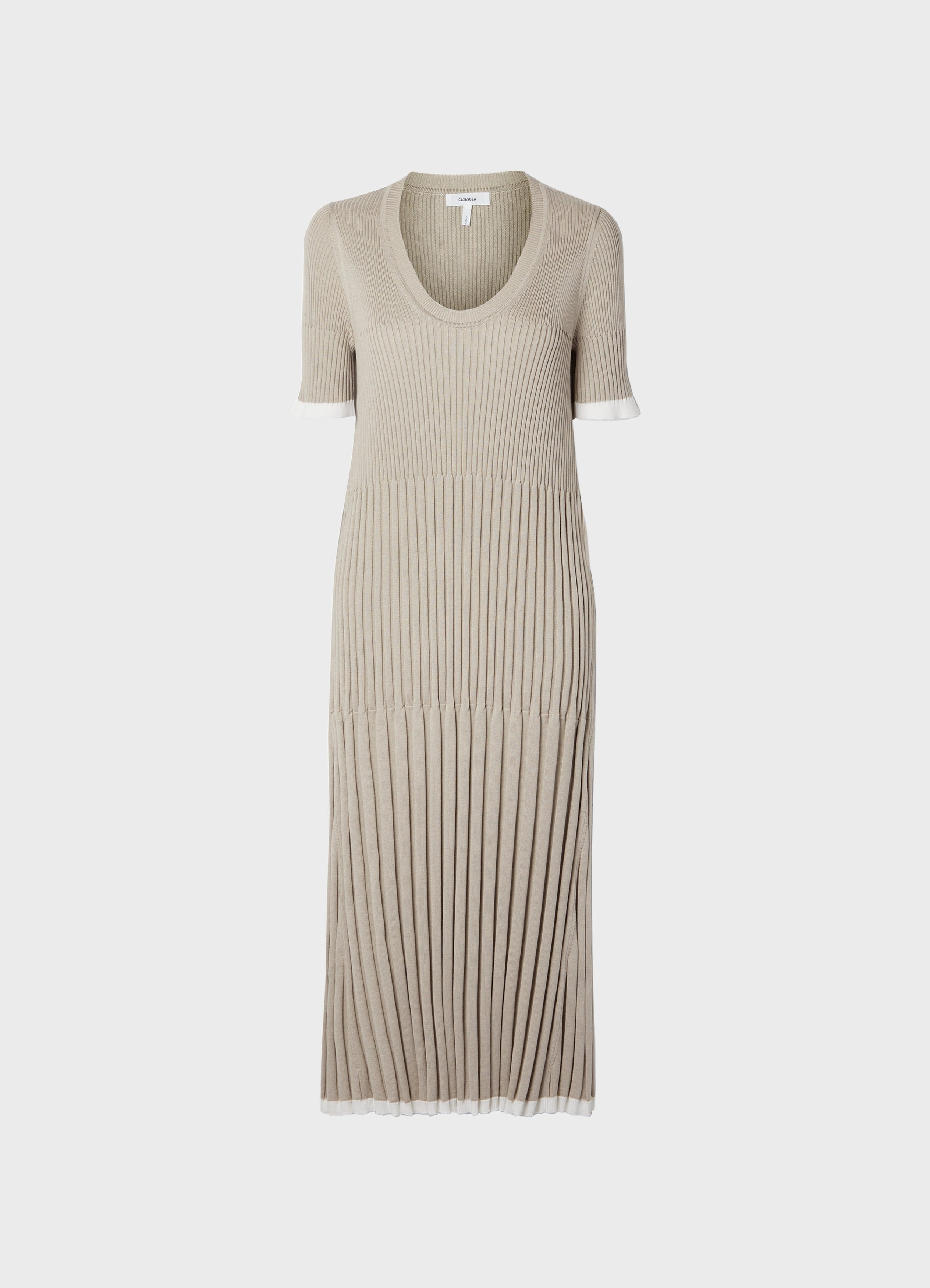 Lara Silk-Cotton Midi Dress