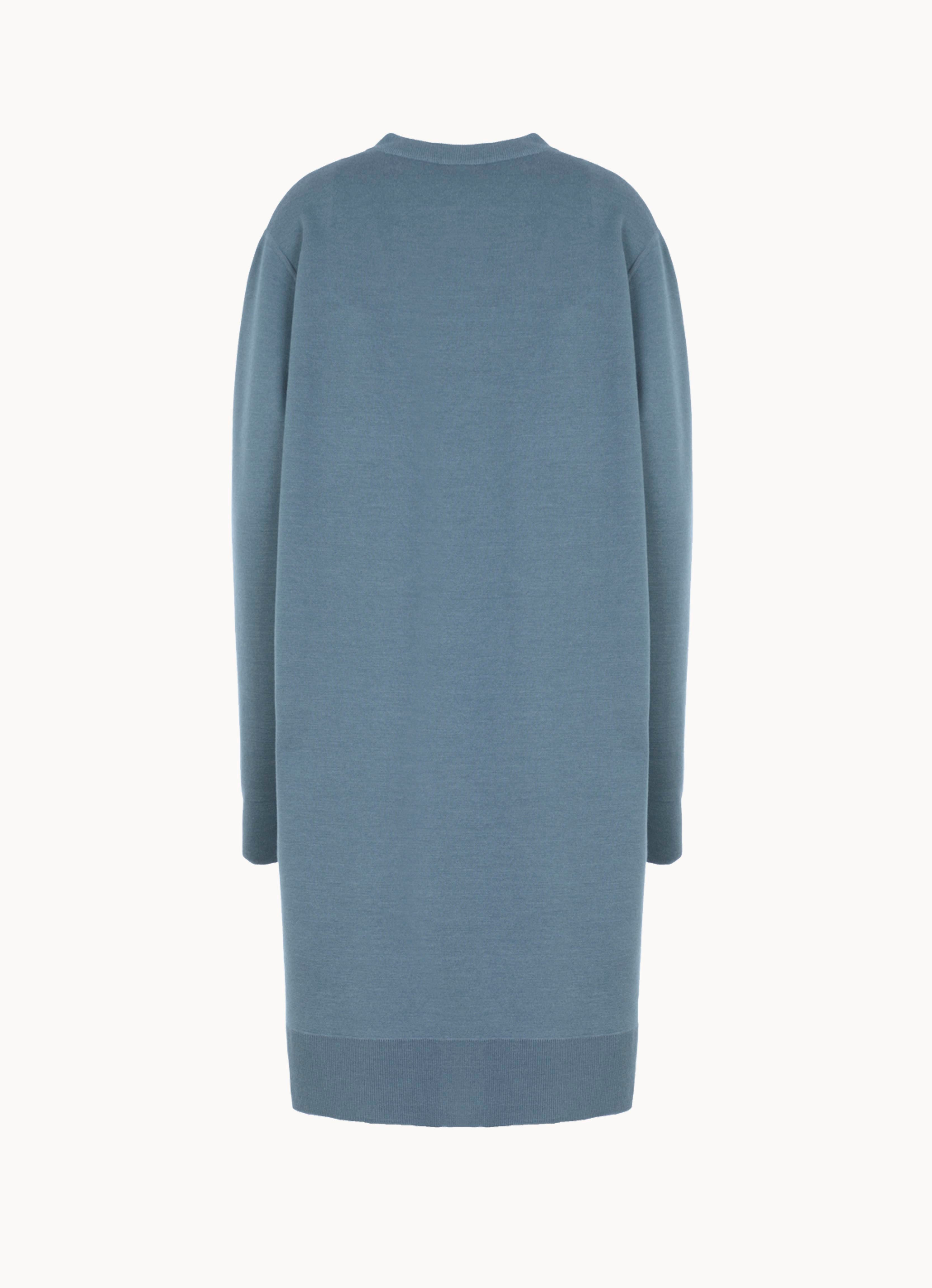 Double-Face Cashmere Crew Sweater Dress