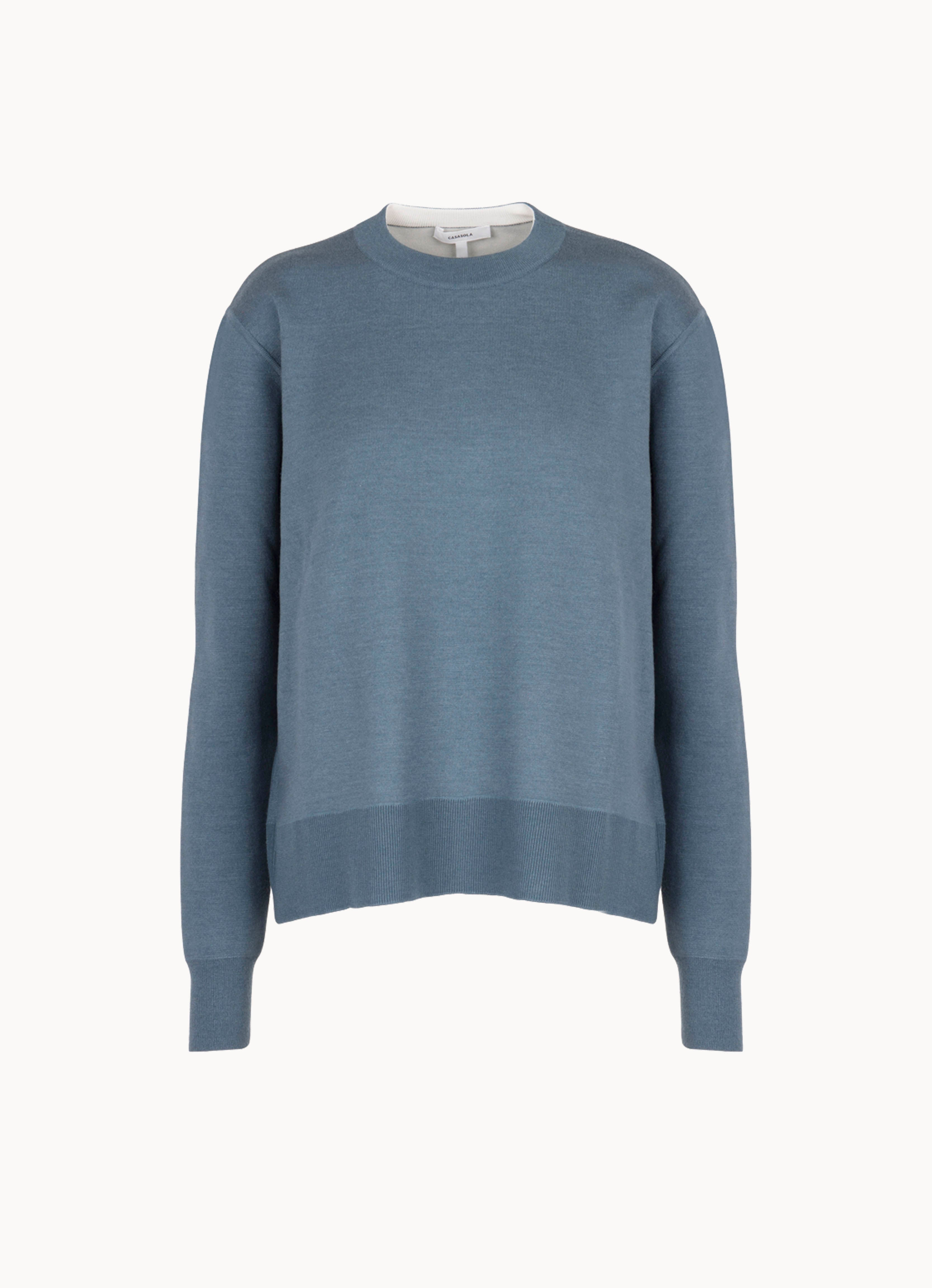 Double-Face Cashmere Crew Sweater