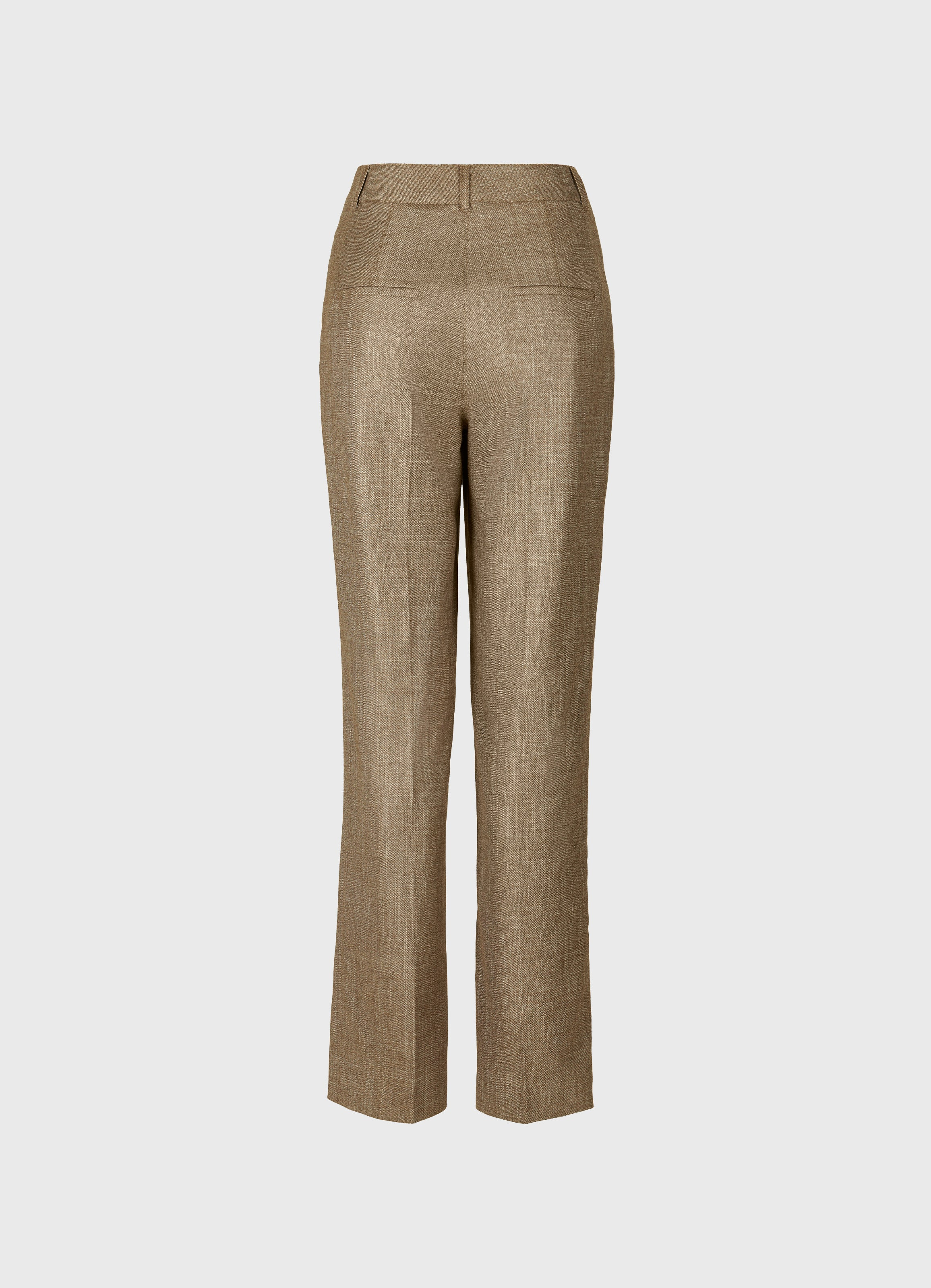 Jobim high-waist straight-leg trousers