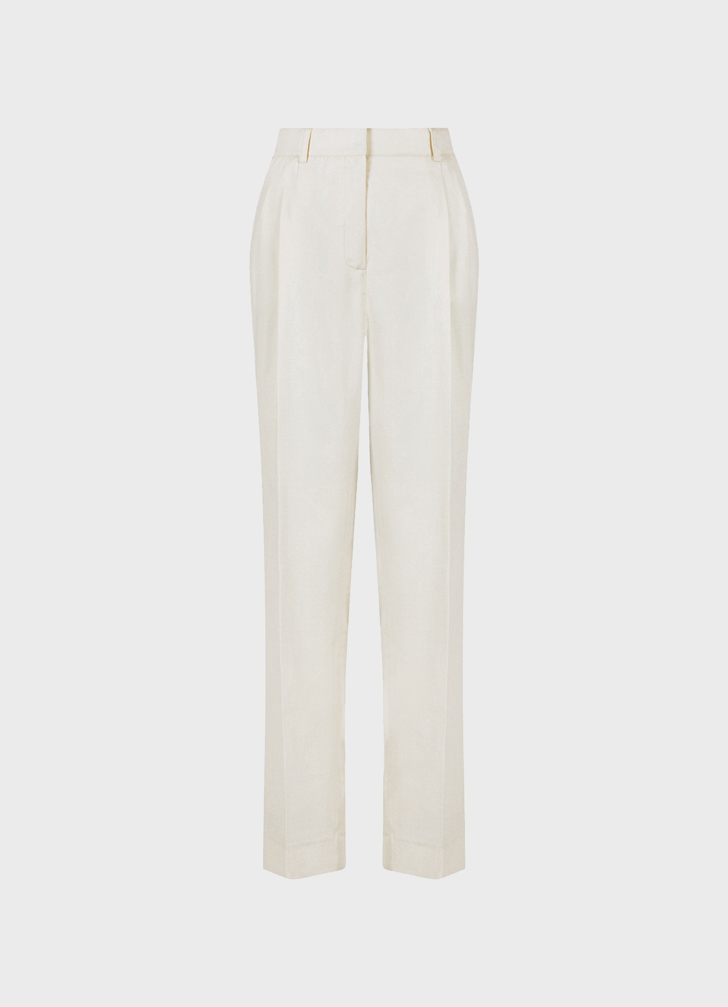Jobim Wool-Silk-Linen Straight-Leg Trousers