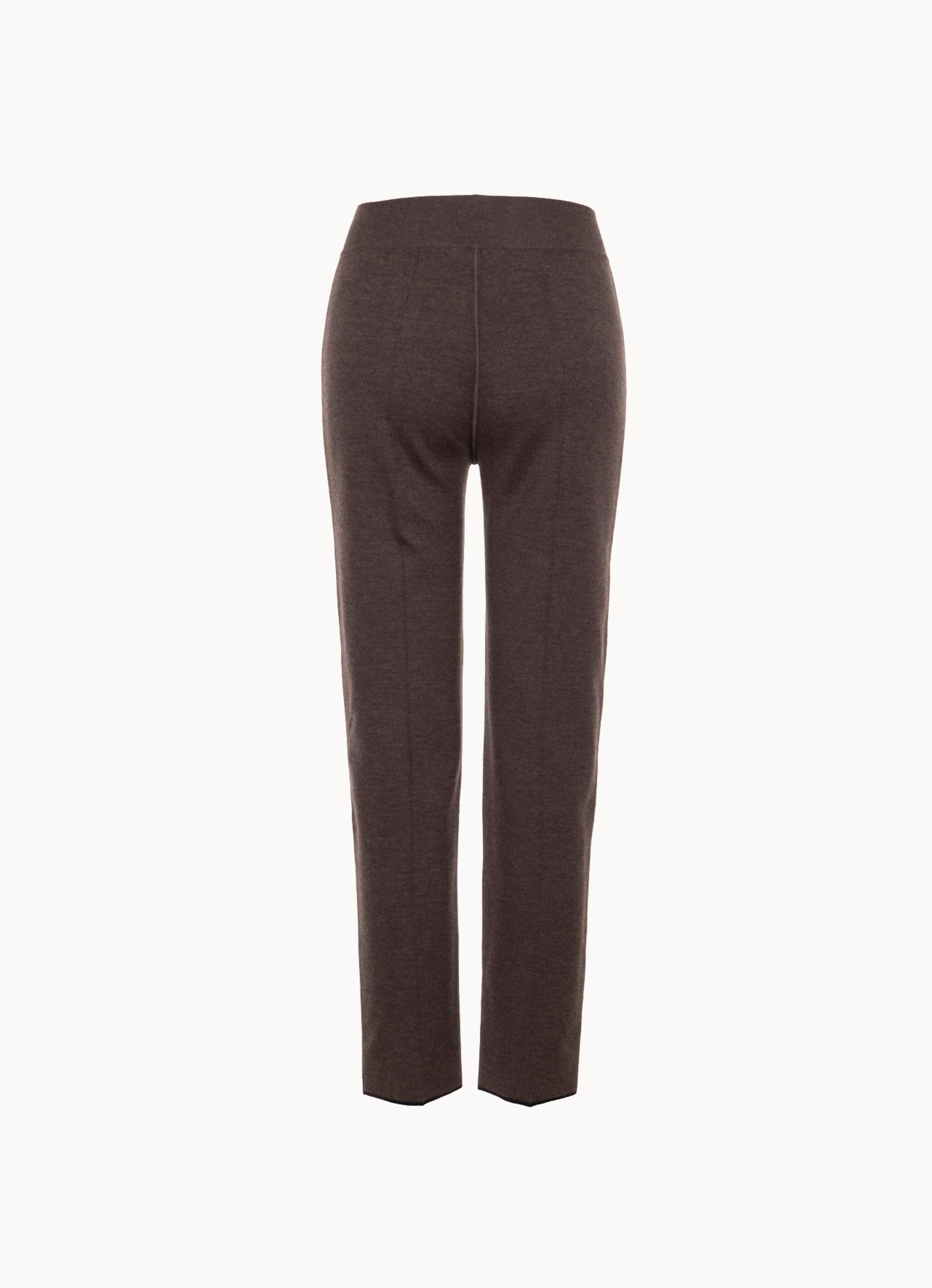 Double-Face Cashmere Crop Trousers