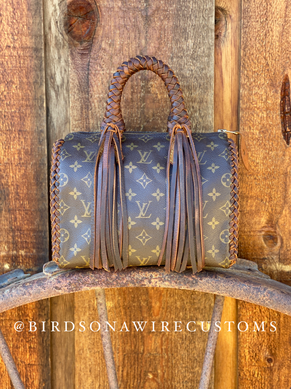 Louis Vuitton Speedy 25 Revamped with Leather Braiding and Fringe