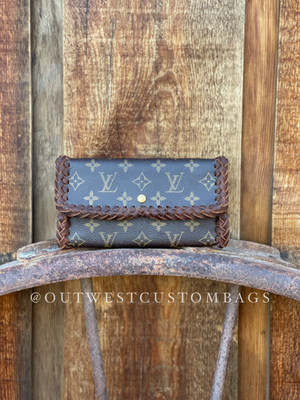Louis Vuitton Leather Braided Revamped International Wallet