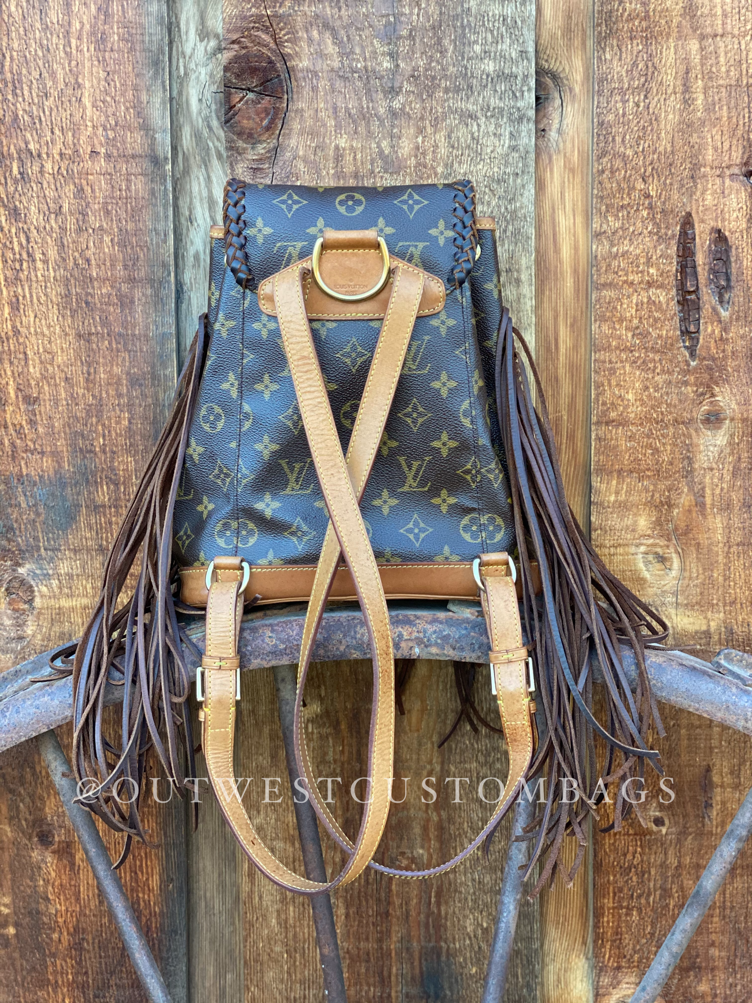 Louis Vuitton Montsouris Backpack Revamped Leather Braiding and Fringe