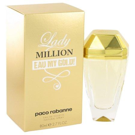 Lady Million Eau My Gold For Women by Paco Rabanne Eau De Toilette Spray 2.7 oz-WOMEN-Perfume Plus Outlet