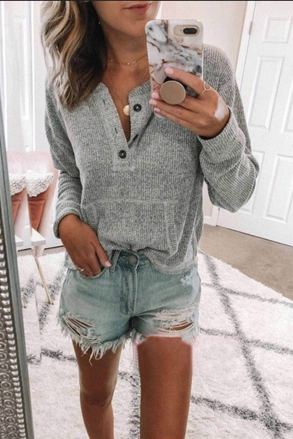 Long Sleeves Basic Plain Knit Sweater