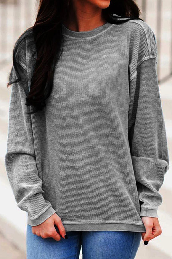 Women Plus Size Sweatshirt Long Sleeves Pullover