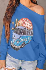 Bus Pattern Long Sleeves Sweatshirt