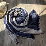 Casual Linen Colorblock Scarfs