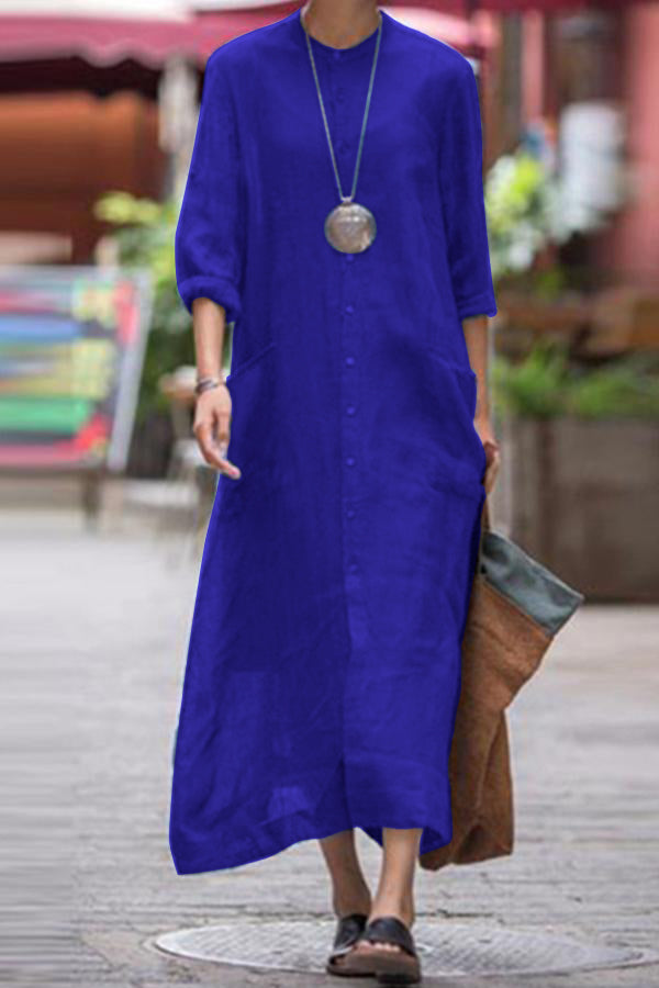 Button Down Casual Maxi Dress