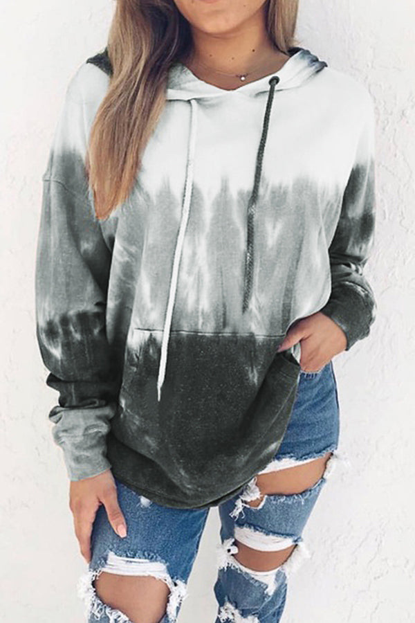 Gradient Casual Long Sleeves Hoodie