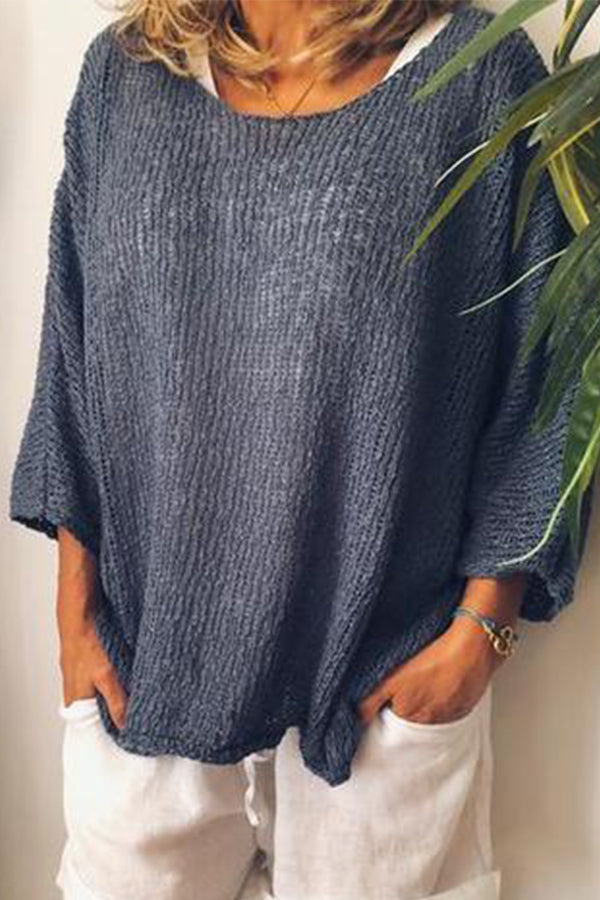 Casual Knit Loose Blouse