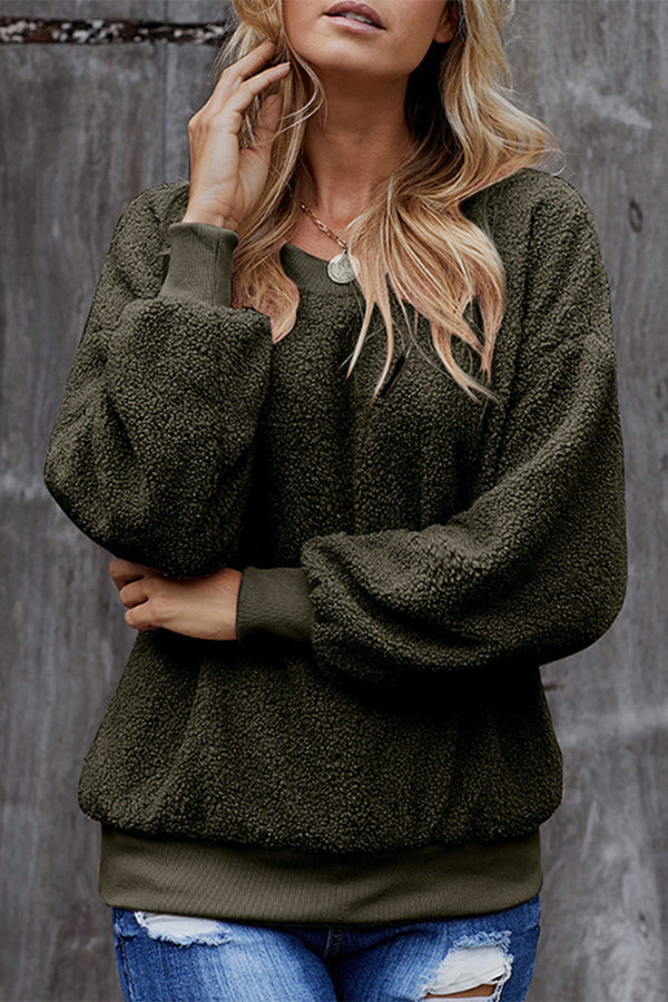 Casual Round Long Sleeves Sweatshirt