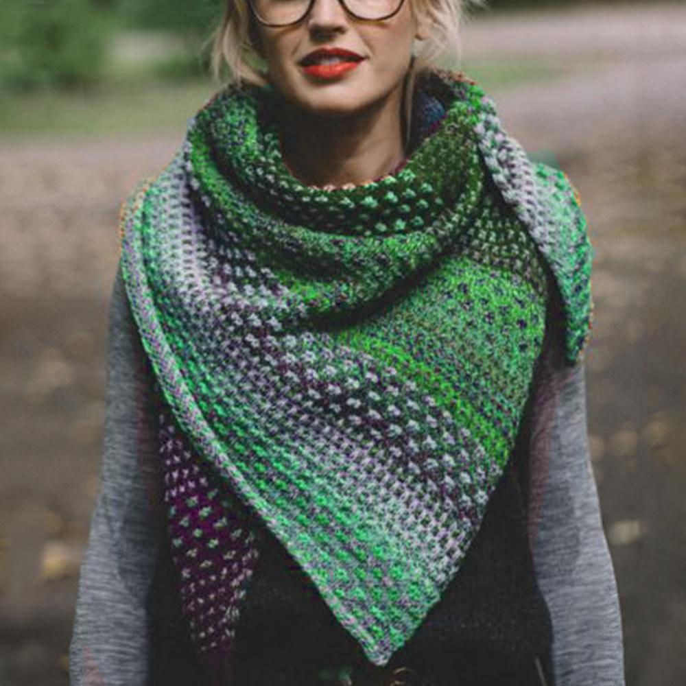 Colorful Gradient Casual Shawl and Scarfs