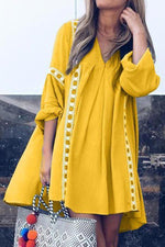 Casual Long Sleeves Solid Midi Dress