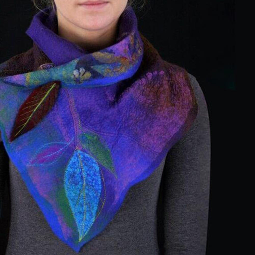 Floral Leaf Shawl and Scarf