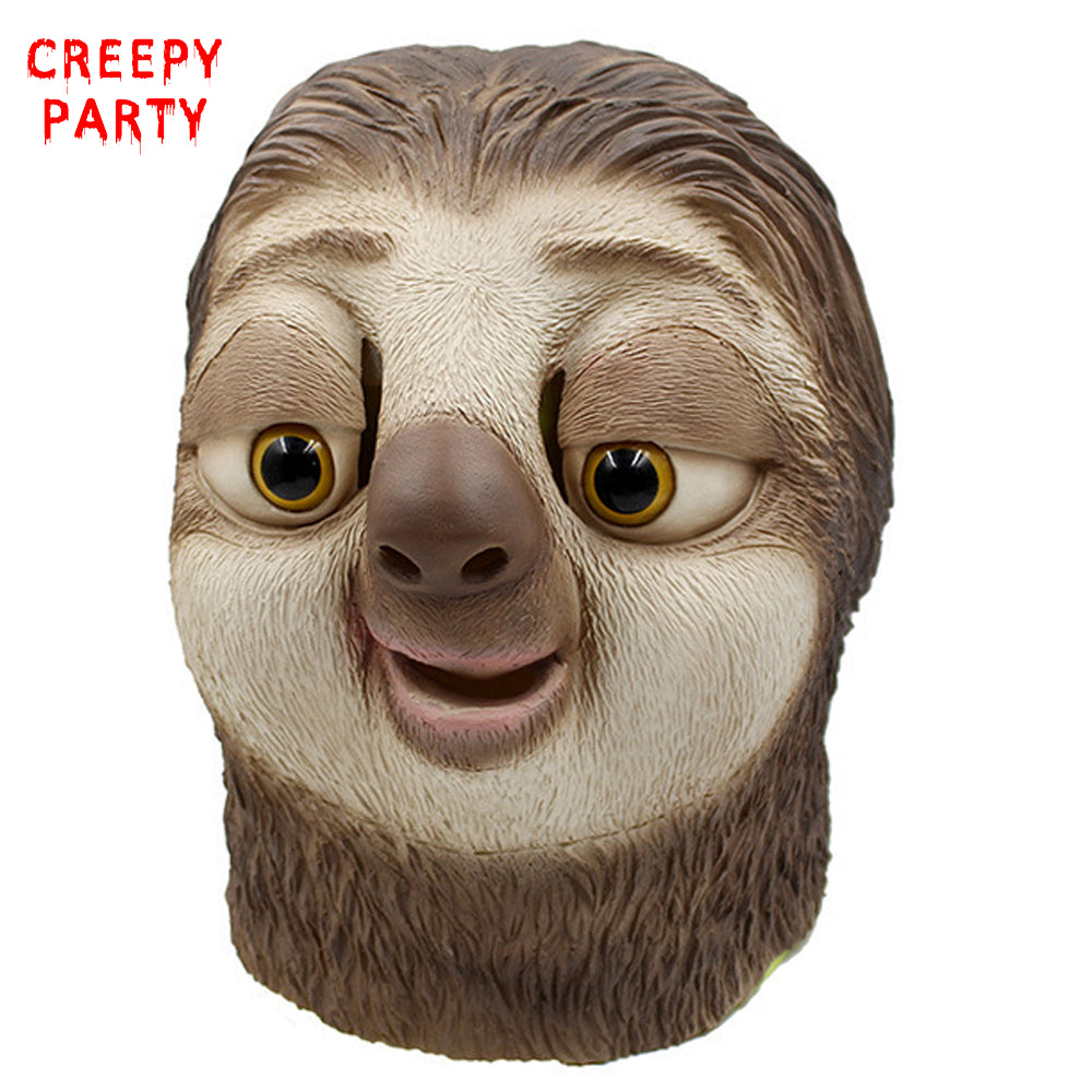 Realistic Zootopia Sloth Latex Halloween Mask