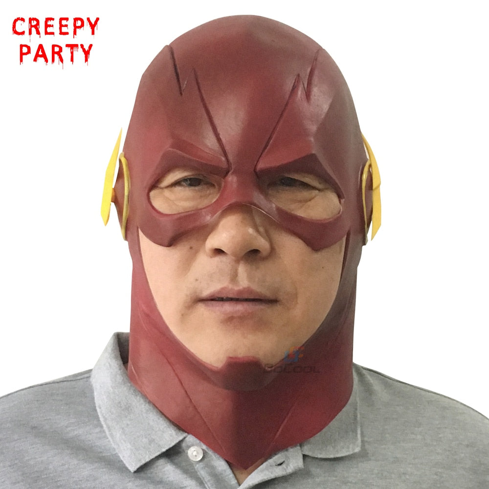 The Flash Full Head Realistic Latex Halloween Mask