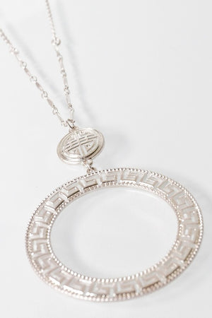 Tribal Double Circle Necklace, Necklace - Lavish Realm