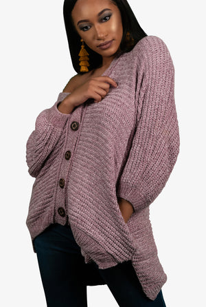 Chenille Knit Cardigan, Sweater - Lavish Realm