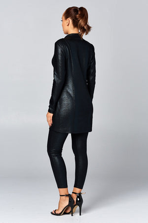 Foil Snake Skin Jacket and Leggings Set, Set - Lavish Realm