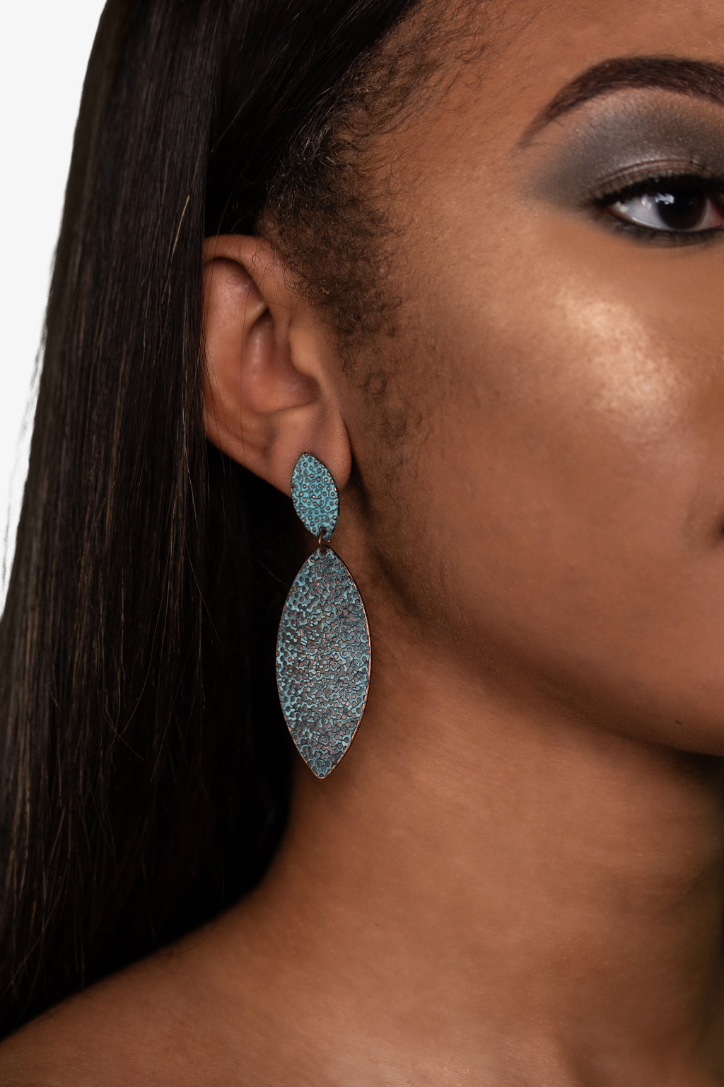 Textured Dangle Drop Earrings, Earrings - Lavish Realm