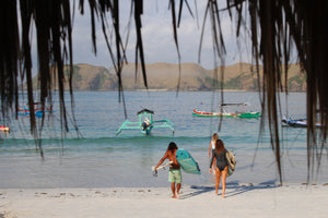 Surf at Tanjung Aan Beach in Lombok with XX Surf School Lombok