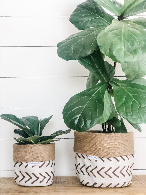 Pot Plant Covers (Boho Flax reversible)