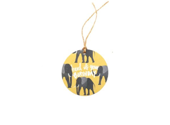Elephant Birthday Pun - Gift Tag