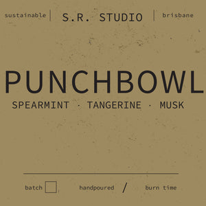 S.R. Studio Punchbowl candle