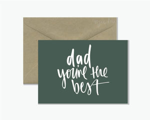 Dad you're the best greeting card from Queensland Sustainable Market