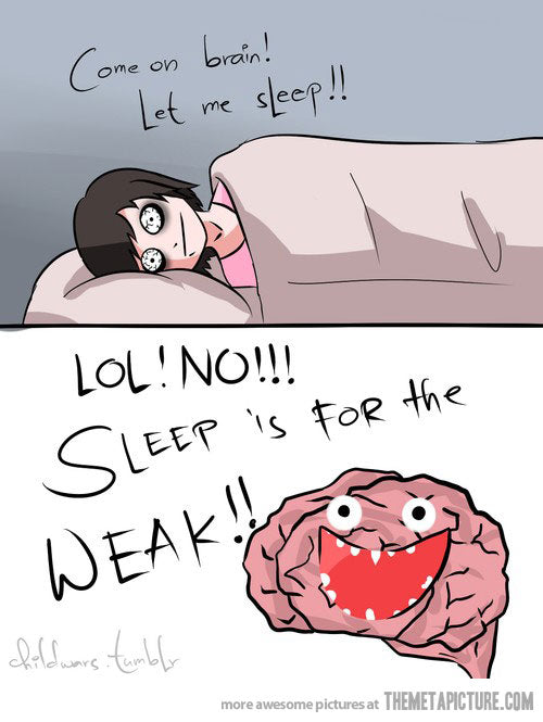 Brain thinks while asleep