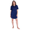 NEW WOMEN'S MOISTURE WICKING SNAP FRONT NIGHTSHIRT