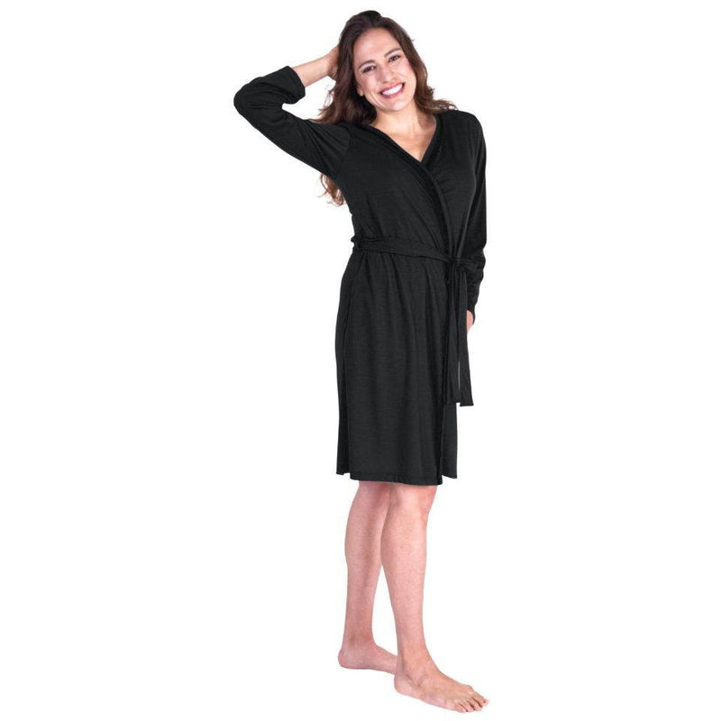 WOMEN'S LACE ACCENT MOISTURE WICKING ROBE - Cool-jams