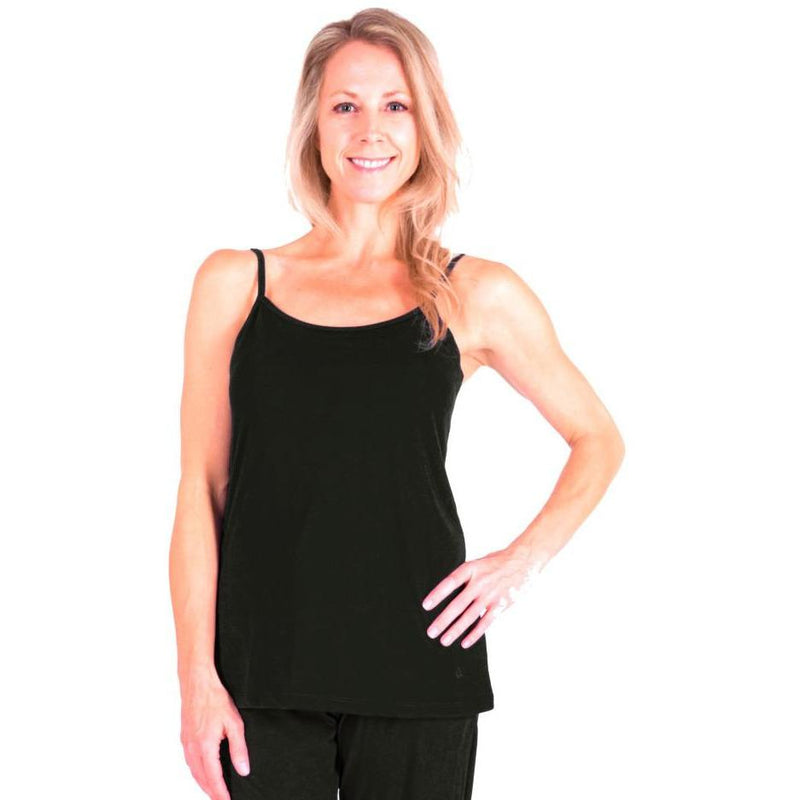 WOMEN'S MIX AND MATCH MOISTURE WICKING CAMI TOP WITH SHELF BRA - Cool-jams