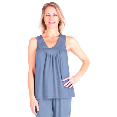 WOMEN'S MIX AND MATCH MOISTURE WICKING GATHERED TANK - Cool-jams
