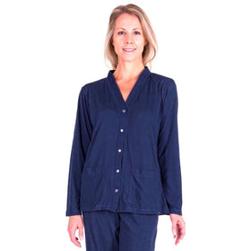 WOMEN'S MIX AND MATCH MOISTURE WICKING PJ TOPPER WITH POCKETS-SOLID - Cool-jams