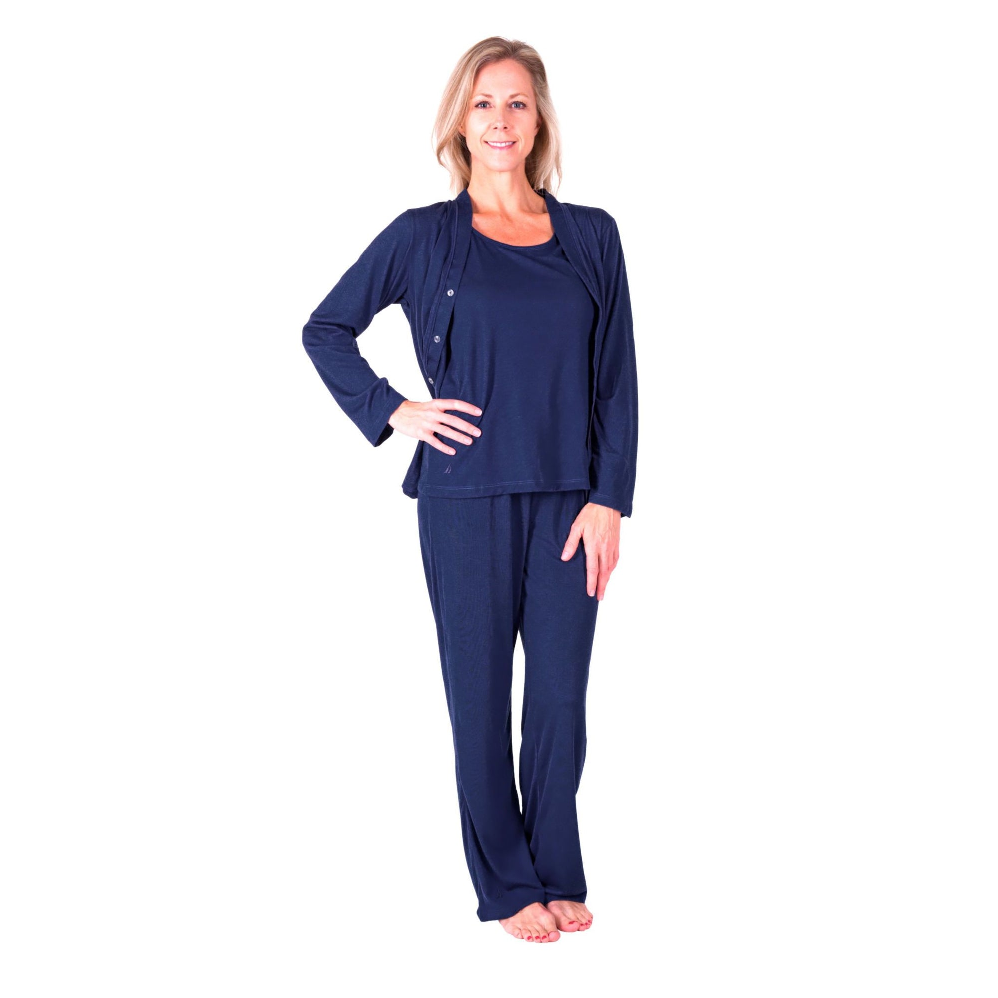 WOMEN'S MOISTURE WICKING 3-PIECE PAJAMA SET - Cool-jams