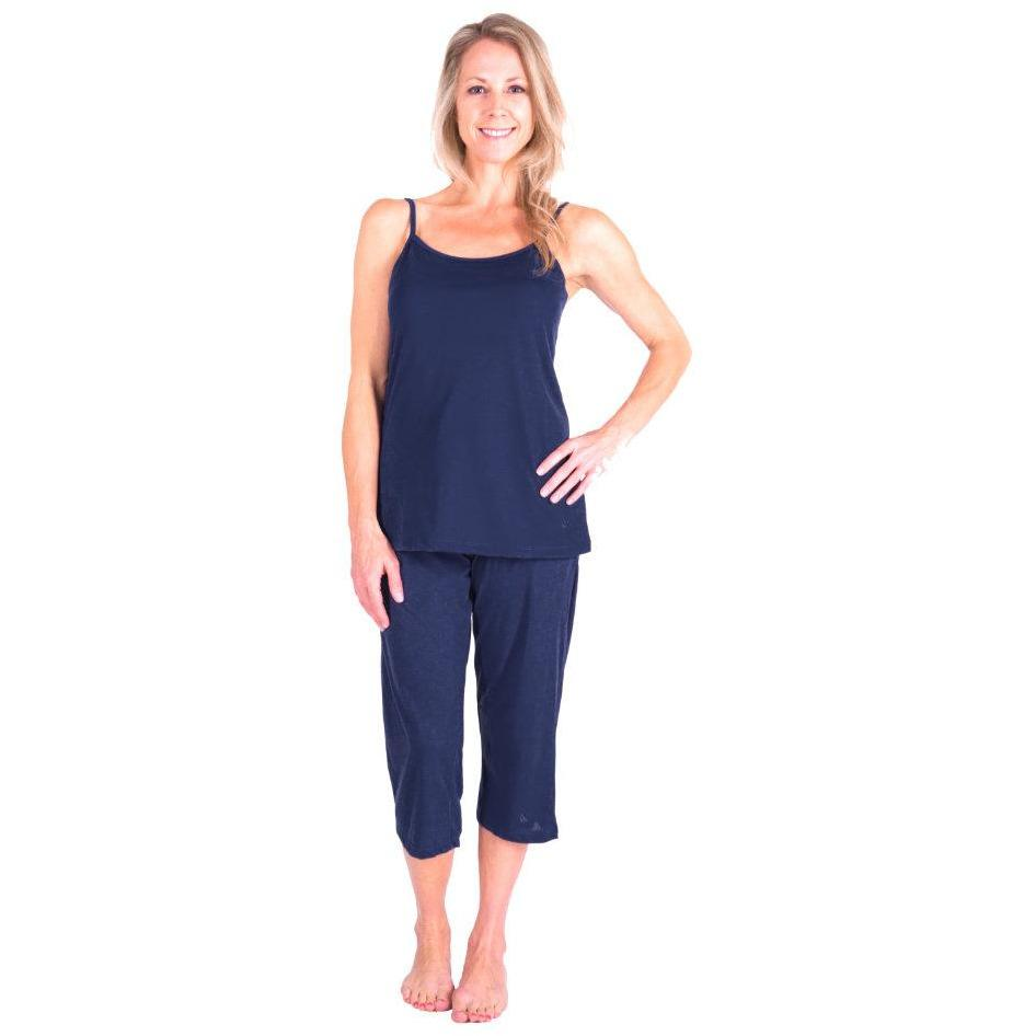 WOMEN'S MOISTURE WICKING CAMI CAPRI PAJAMA SET - Cool-jams